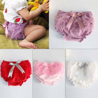 Toddler infant baby girl ruffle bloomer pant nappy diaper panties kids outfit HG