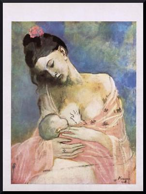 1955 ORIGINAL FRENCH VINTAGE PRINT Maternity / Mother / Baby PABLO PICASSO 2033