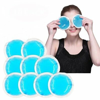 9 X Round Ice Gel Reusable Pack Hot / Cold Therapy For Pain Relief & 1St Aid