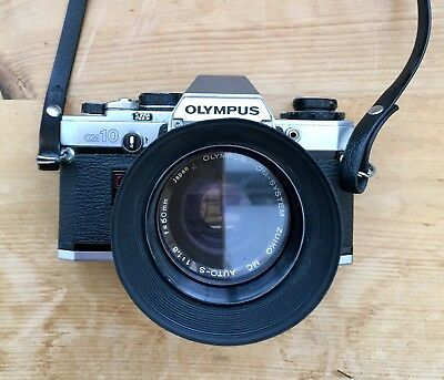 Olympus OM10 35mm Camera With 50mm Lens, Case & Strap Spare Sigma 70-210mm Lens