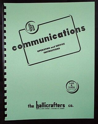 Hallicrafters S-85 S-85U Mark 1A & 1B Communications Receiver Manual