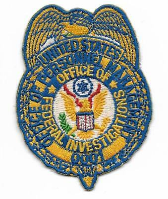 SPECIAL Agent  FEDERAL INVESTIGATIONS Pers.M. Police Patch Polizei Abzeichen USA