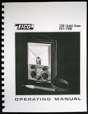 EICO 239 Solid State FET TVM  Instruction Manual