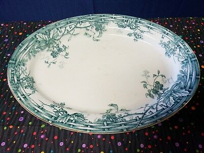 """Antique Gipsy Meat Plate Staffordshire England Size: 11""""15"""" Rare"""