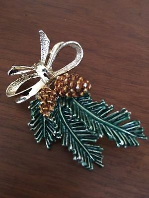 Vintage 60's Gerry's Christmas Pine Cone Brooch/ Pin