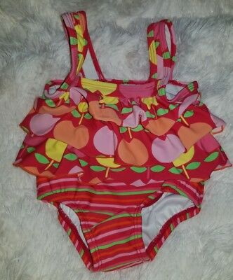 Carters 12 month girls bathing suit one piece striped