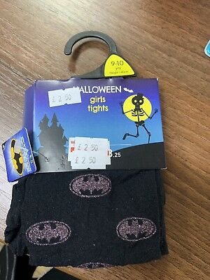 Halloween Girls Tights Glitter Size 9-10 Years New