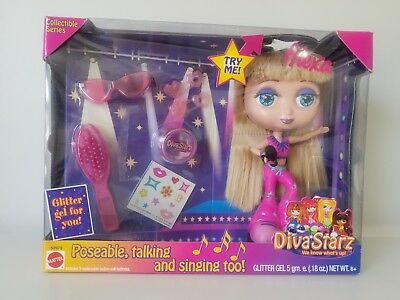 "Mattel 2001 DIVA STARZ ALEXA Doll 6 1/2"" Poseable Talking & Singing NEW Rare"