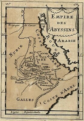 Africa Empire Abyssinia Nile river interior detail 1683 Mallet map