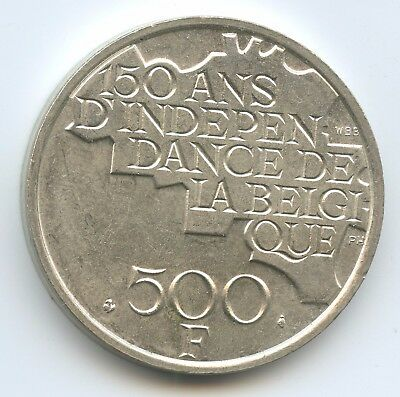 GS972 - Belgien 500 Francs 1980 KM#161 TOP Belgique Independence Belgium