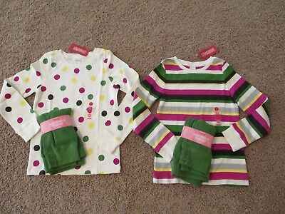 Gymboree Merry & Bright Holiday Festive Top & Green Crop Leggings 7 Or 8 Nwt