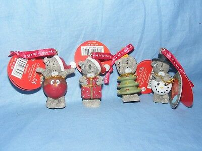Me to You Bear Christmas Tree Decorations Set Of 4 XGT01016 Tatty Teddy RARE