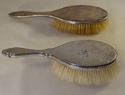 2 Antique Sterling Silver Hair Clothes Brushes Mappin Webb 1912  Birmingham 1911