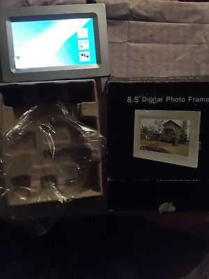 "8.5"" Silver Digital Photo Frame. New In Box"