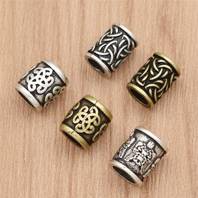 1 Pc Viking Celtic Knot Bead DIY Beard Hair Pendant Bracelet Jewellery Making