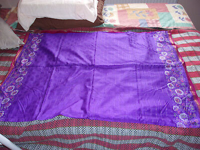 Purple saree with maroon and gold border