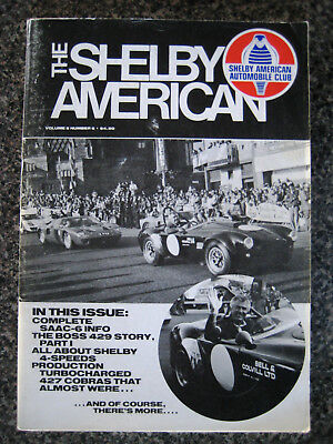 The SHELBY American magazine SAAC. Complete Vol. 5  Issues 1- 2- 3- 4- 5- 6