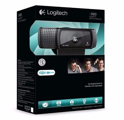 Logitech C920 HD Pro USB 1080p Webcam, HD