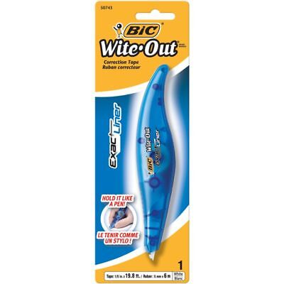 """BIC® Wite-Out® Exact Liner® Correction Tape, White, 236"""""""