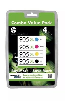 4 x Genuine HP905XL Ink Cartridges For HP Officejet Pro 6970,6956,6950,6960