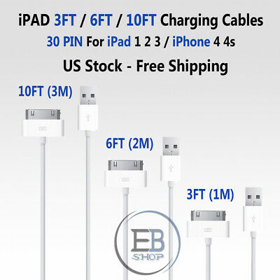 Apple Lightning Cable 30 PIN 3ft 6ft 10ft iPhone/iPad MFI USB Charger Certified
