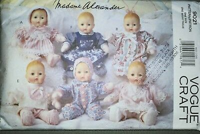 "1994 Vogue Madame Alexander One Size 12"" Baby Doll Pattern"