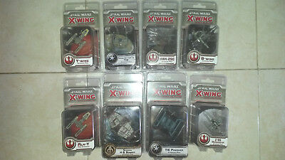 X WING Miniatures Game lot STAR WARS 8 ships B wing scurrg inquisitor HWK Z95