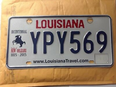 "Louisiana Bicentennial License Plate ""Battle Of New Orleans 1815-2015"""