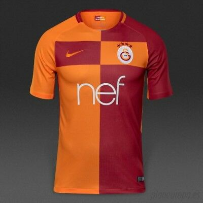 Nike Galatasaray 2017/ 2018 Men's Ss Home Football Shirt New 847279-869 Size L