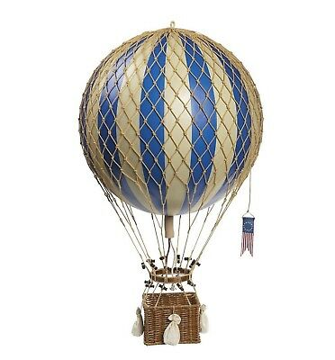 Authentic Models Royal Aero Balloon in Blue Large Hot Air Balloon Decoration