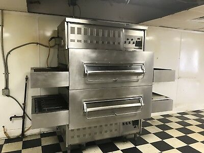 Middleby Marshall 350's Double Stack Pizza Conveyor Ovens Natural Gas