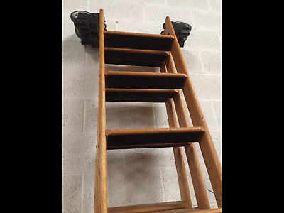 Cotterman Rolling Wood Library Ladder