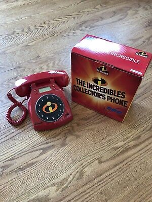 Disney Pixar -The Incredibles Collector's Red Telephone