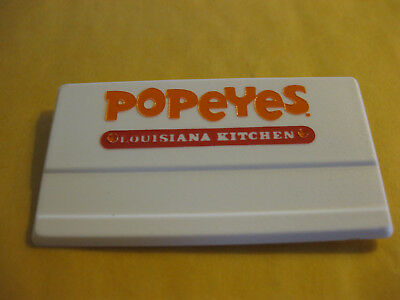 POPEYES Louisiana Chicken! uniform crew Name badge Tag Vintage Salesman Sample!