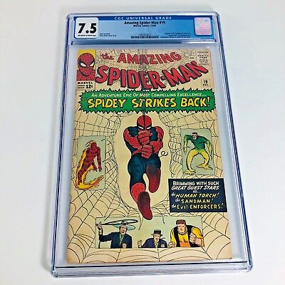 AMAZING SPIDER-MAN #19 Marvel Comics 1964 Comic Book CGC 7.5 New Slab! OW-White!