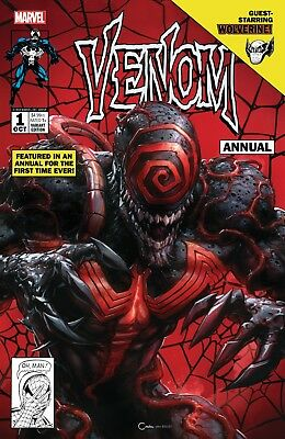Venom Annual 1 Exclusive Crain Variant Lethal Protector Homage Movie Hot Nm New