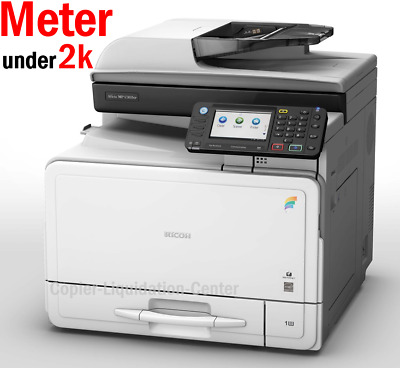 Ricoh MP C305 SPF Color Copier Scanner Fax Printer. Speed 31 ppm Low Meter