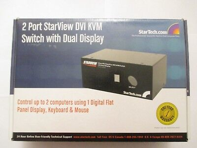 Starview SV221DVIDD 2-Port PS/2 KVM Switch with Dual DVI Display
