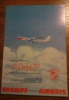 POSTER - Braniff International Airways,  El Dorado Super Jet,  c. 1960
