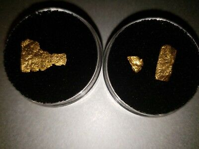 solid gold nugget fragments 3 pieces 0.87grams rare yellow gold 18k