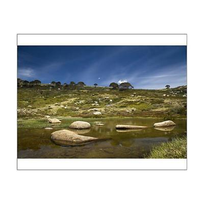 "10""x8"" (25x20cm) Print of A tarn in the Snowy Mountains from"
