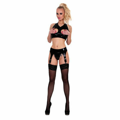 Guilty Pleasure GP Datex Strumpfhaltergürtel Stringtanga Damen Latexkleidung