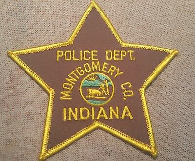 IN Montgomery County Indiana Police Patch