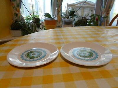 """J and G Meakin Capri-set of 2 side plates (7"""")"""