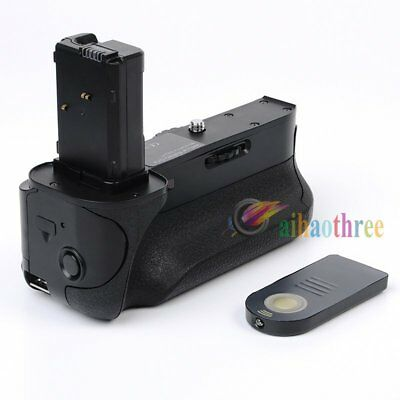 Vertical NP-FW50 Battery Grip Holder + Remote Control For Sony A7 A7R Camera【AU】