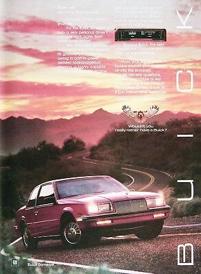 1985 BUICK SOMERSET Genuine Vintage Advertisement ~ 2.5L 4 CYLINDER