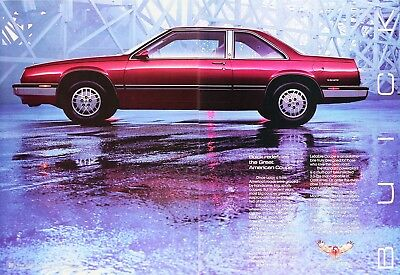 1986 BUICK LESABRE COUPE Genuine Vintage Advertisement ~ 3.0L Six
