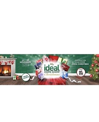 4x (FAMILY) Ideal Home Show Christmas Tickets FRIDAY 23rd Nov London Olympia