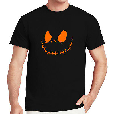 Smiling jack T-shirt Spooky Scary Halloween Top Fancy Dress Unisex Kids gift top