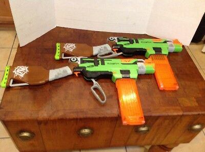 Nerf Zombie Strike SlingFire / Sling Fire blaster with clip, tested & working 2
